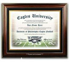 Philadelphia EAGLES NFL Football Fan Certificate / Diploma Man Cave GIFT Xmas