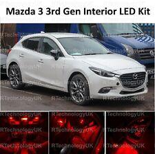 Red Premium per Mazda 3 2013-2018 interno completo aggiornamento Kit Lampadina LED Luce