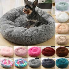 Pet Dog Cat Calming Bed Nest Warm Soft Plush Round Comfortable Deep Sleeping Mat