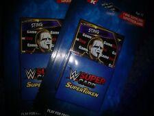WWE SuperCard SuperToken Token Gamestop  Exclusive Sting x2