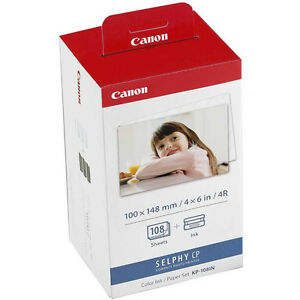Canon KP-108IN 3 Ink & 108 Paper Sheets Set 100x148mm / 6x4inch For SELPHY CP