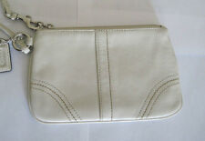 COACH Wristlet Wallet ID Holder Cream Leather w/Tag and Carrying Handle