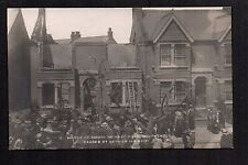 Southend - Air Raid, Wreck of House in West Road - real photographic postcard