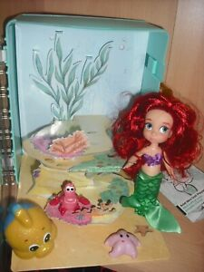 Disney Animator's Collection The Little Mermaid Ariel Doll Figure + Accessories