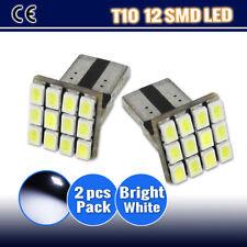 2 X T10 LED 12led SMD LED PARKER / WEDGE TAIL SIDE  LIGHT LAMP BULB-W5W 12V
