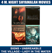 4 Dvd Lot M Night Shyamalan Unbreakable Village Lady Signs Water Comic Book Glas