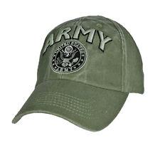 U.S. ARMY Insignia Hat / Army Emblem OD Green Baseball Cap 6563