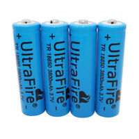 4X 18650 Battery 3800mAh 3.7V Li-ion Low Drain Rechargeable for Flashlight Torch