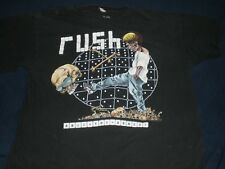 "Vintage 1991 Rush ""Roll The Bones"" Concert Tour T-shirt L XL pushead 91"