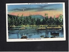 View of Mount Katahdin from Rock Pond, Maine, USA, Stamp/Postmark-1937
