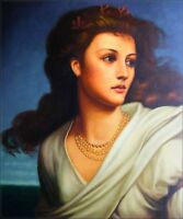 Quality Hand Painted Oil Painting Repro Sir Frank Dicksee Miranda 20x24in