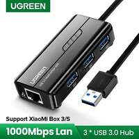 Ugreen USB 3.0 To Rj45 Ethernet Lan Network Adapter Cable 2.0 Hub 1000Mbps Card