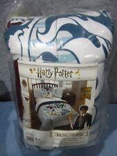 """Harry Potter Hogwarts Houses Twin/Full Reversible Comforter 72"""" x 86"""" - NEW"""