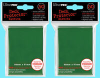 100 Ultra Pro GREEN DECK PROTECTOR Card Sleeves Standard Size NEW MTG magic ccg