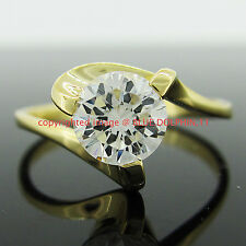 Genuine Real Solid 9ct Yellow Gold Engagement Wedding Rings Simulated Diamonds