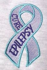 Cure Epilepsy Sweatshirt Awareness 5XL Teal Lilac Purple Ribbon Gray Hoodie New