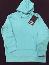 Girl's CHA SOR Love Knit Pocket Hoodie Light Blue Size 7 NWT Sweatshirt Top