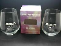 2 X ABSOLUT VODKA GLASSES - PUB BAR SPIRIT ABSOLUTE TUMBLER