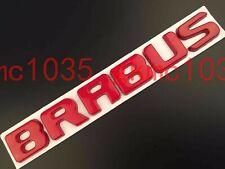 METAL RED BRABUS BADGE MERCEDES BENZ A C E CLK SLK ML AMG 220 250 350 CDI C63