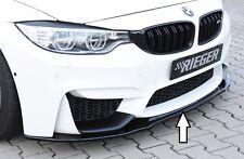Rieger FRONT SPOILER SPADA IN NERO LUCIDO per BMW m3 f80/m4 f82/f83