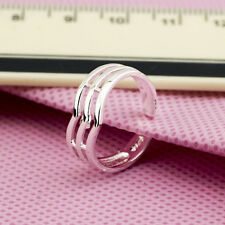 925 Sterling Silver plating Solid fashion jewelry Ring Wholesale SIZE OPEN J06