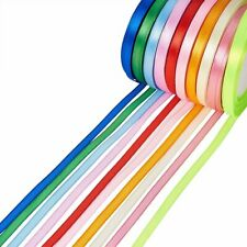 250yards/group Satin Ribbon Mixed Color Gifts Wrapping Wedding Supplies