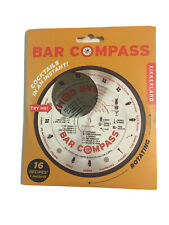 Kikkerland Home Bar Compass Stainless Steel Cocktail Recipe Drinks Tool
