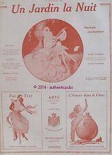 PUBLICITE ARYS PARFUM UN JARDIN LA NUIT FOX TROT AMOUR DANS LE COEUR DE 1922 AD