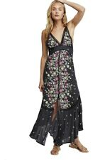 Medium People Black Floral Paradise Printed Maxi Dress M