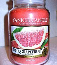 "Yankee Candle ""PINK GRAPEFRUIT"" Fruit ~ Large 22oz.~ European ~ WHITE LABEL~ NEW"