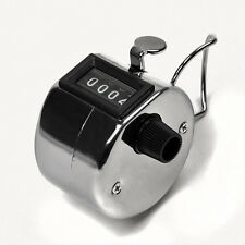 Portable Digital Chrome Hand Tally Clicker/Counter 4 Digit Number Clicker Golf
