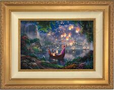 "Thomas Kinkade Tangled 12"" x 18"" LE Standard Number Canvas (Gold Frame)"