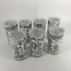RARE Vintage Mid-Century 60s set of 7 Georges Briard Highball Glasses