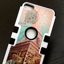 For iPod Touch 5th 6th Gen - HARD & SOFT HYBRID IMPACT CASE PARIS EIFFEL TOWER