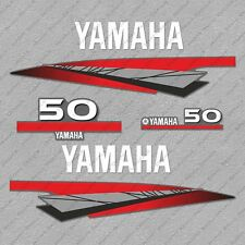 Yamaha 50 HP Two 2 Stroke Outboard Engine Decals Sticker Set reproduction 50HP