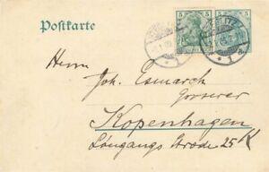 452852) DR GSK 5 Pf. Germania Steglitz 1909 mit ZF 85 Ib (geprüft, 50,-) n. DK