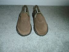 Skechers Go Walk Brown Resalyte Faux Fur Lined Suede Shoes Size 6.5 New