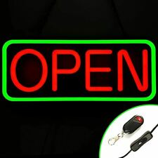 Large Flashing Led Neon Open Sign Light for Businesses with Remote Green/Red