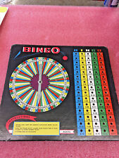 "BS9 Vintage Built Rite Bingo card Spinner 11"" W x 10"" H cardboard USA"