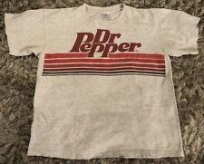 Vintage Vtg 80s 90s DR PEPPER/DIET T-Shirt 100% Cotton Size Xl Grey Rare