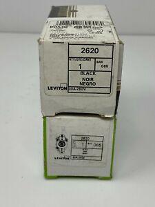 Leviton 2620 30 Amp, 250 Volt, Flush Mounting Locking Pack of 1, Black NEW