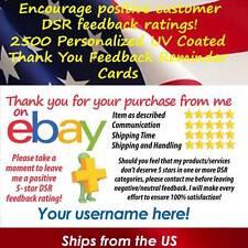 2500 UV GLOSS CLASSIC DESIGN eBay CUSTOM 5 STAR DSR SELLER THANK YOU CARDS