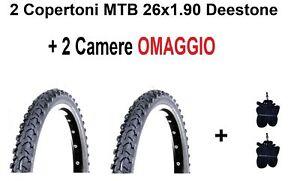 2 Copertoni MTB 26 Bici Mountain Bike 26x1.90 Deestone Gomme Pneumatico Bike