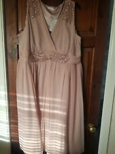 Berkertex dress Size 22 Pink Wedding Christening New