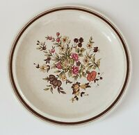 """Royal Doulton Lambethware Gaiety Dinner Plate 10 1/2"""" Brown Floral LS 1014"""