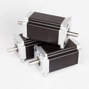 【Free ship US】3PC NEMA34 Stepper Motor 1600 oz.in 3.5A 150mm