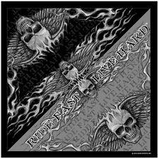 Biker Chopper Skull Wing Flammen Totenkopf Ride Bandana Tuch Kopftuch Halstuch