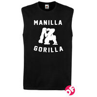 Muhammad Ali Manilla Gorilla Sleeveless Tshirt Tank Top Retro Design NEW