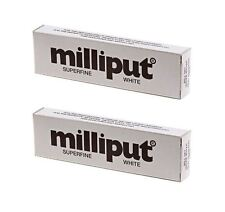 2 x Milliput Superfine 2 Part Self Hardening Epoxy Putty White DIY - 113g / 4oz