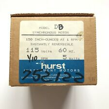 Hurst Synchronous Motor Model DB 115 Volts 60hz 1/10 Rpm 5 Watts New In Box